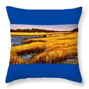 The Marsh At Cherry Grove Myrtle Beach South Carolina Throw Pillow