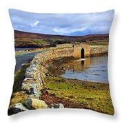 On Both Sides Of The Bridge Throw Pillow