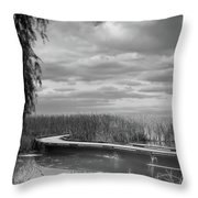 The Marsh-in Black And White Throw Pillow