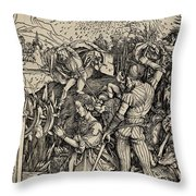 The Martyrdom Of St. Catherine Of Alexandria Throw Pillow