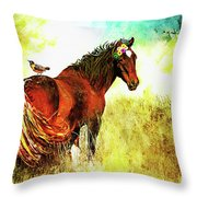 The Marvelous Mare Throw Pillow