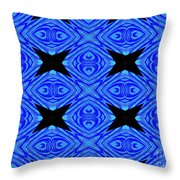 The Mask Masquerading In Blue Throw Pillow