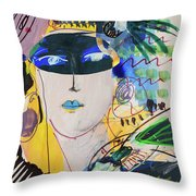 The Mask Party Throw Pillow