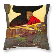 The Masked Rider 1919 Throw Pillow