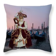 The Masks Of Venice Carnival Throw Pillow