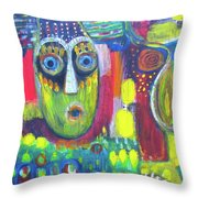 The Masks We Wear Throw Pillow