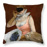 The Masque Throw Pillow