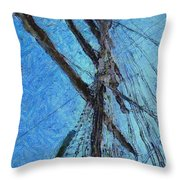 The Mast And The Wind Throw Pillow