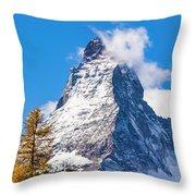 The Matterhorn Mountain Throw Pillow