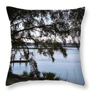 The May River In Bluffton Throw Pillow