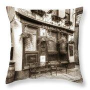 The Mayflower Pub London Vintage Throw Pillow