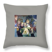 The Mayor Wizard Of Oz Throw Pillow