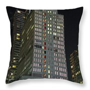 The Mcgraw Hill Building Throw Pillow