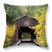 The Mckee Bridge Throw Pillow