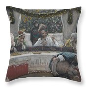 The Meal In The House Of The Pharisee Throw Pillow