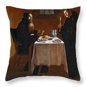 The Meal Of Saint Benedict Of Nurcia Throw Pillow