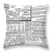 The Measurement Of Annual Time Throw Pillow
