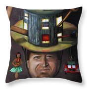 The Mechanic Part Of The Thinking Cap Series Throw Pillow by Leah Saulnier The Painting Maniac