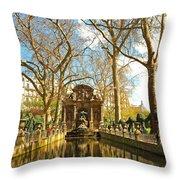 The Medici Fountain Throw Pillow