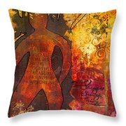 The Medicine Man Throw Pillow