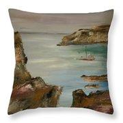 The Mediteranean Coastline Throw Pillow