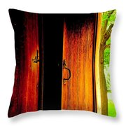 The Meeting House Door Throw Pillow