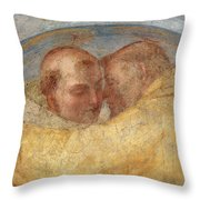 The Meeting Of St Francis And St Dominic  Throw Pillow