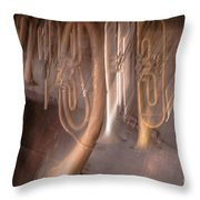 The Melody Of The Past Throw Pillow