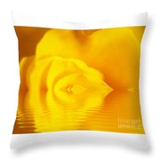 The Melting Rose Throw Pillow