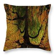 The Melting Tree Throw Pillow