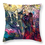 The Menagerie Throw Pillow