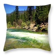 The Merced River In Yosemite Throw Pillow