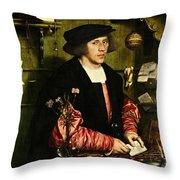 The Merchant Georg Gisze 1532 Throw Pillow