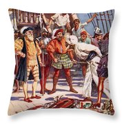 The Merchants Of Calicut, India, Held Throw Pillow