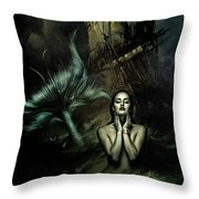 The Mermaid And The Sailor Throw Pillow
