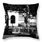 The Merry-go-round Throw Pillow