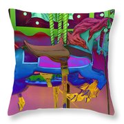 The Merry-go-round Of Life Throw Pillow