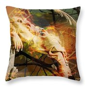 The Message Ignored Throw Pillow