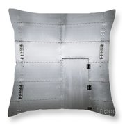 The Metal Door Throw Pillow