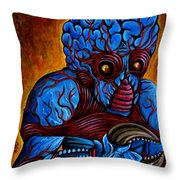 The Metaluna Mutant Throw Pillow