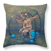 The Metamorphosis Of Gaia Throw Pillow