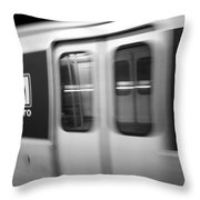 The Metro Is The Subway Train Throw Pillow
