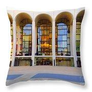 The Metropolitan Opera House Throw Pillow
