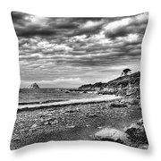The Mewstone, Wembury Bay, Devon #view Throw Pillow