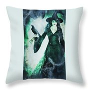 The Midnight Garden Witch Throw Pillow