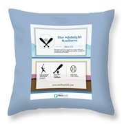 The Midnight Madness Throw Pillow
