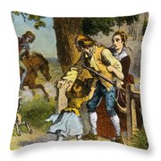 The Midnight Ride Of Paul Revere 1775 Throw Pillow by Photo Researchers