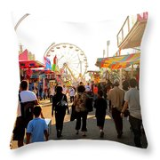 The Midway Stroll Throw Pillow
