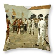 The Mier Expedition-the Drawing Of The Black Bean Throw Pillow