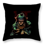 the Mighty Clown Throw Pillow